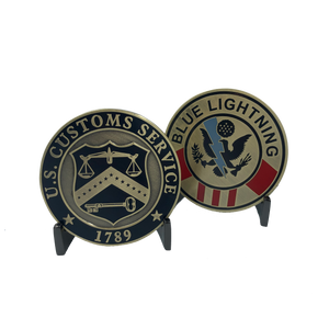 KK-003 Blue Lightning Legacy U.S. Customs Challenge Coin (not CBP)