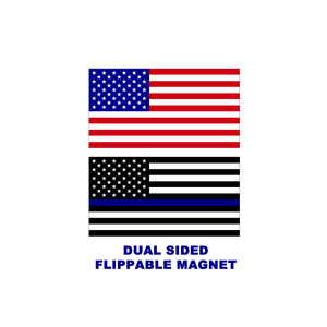 E-019 Thin Blue Line 2 sided reversible magnet CBP Police HSI Secret Service ATF LEO