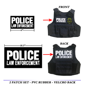 Body Armor Bullet Proof Ballistic vest Tactical PVC Rubber Patch set POLICE LAW ENFORCEMENT patches CBP