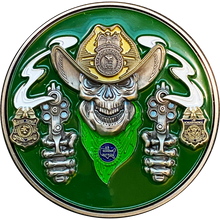 DL1-10 Border Patrol Especial Thin Green Line Challenge Coin CBP Modelo Parody We Don't Need Masks