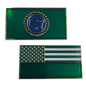 K-007 Border Patrol Flag Challenge Coin CBP BP