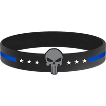 Punisher Thin Blue Line Silicon Bracelet (BLUE)