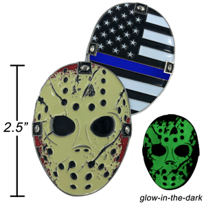 Thin Blue Line Jason Voorhees Goalie Mask Friday the 13th Firefighter Police CBP FBI ATF NYPD LAPD Chicago