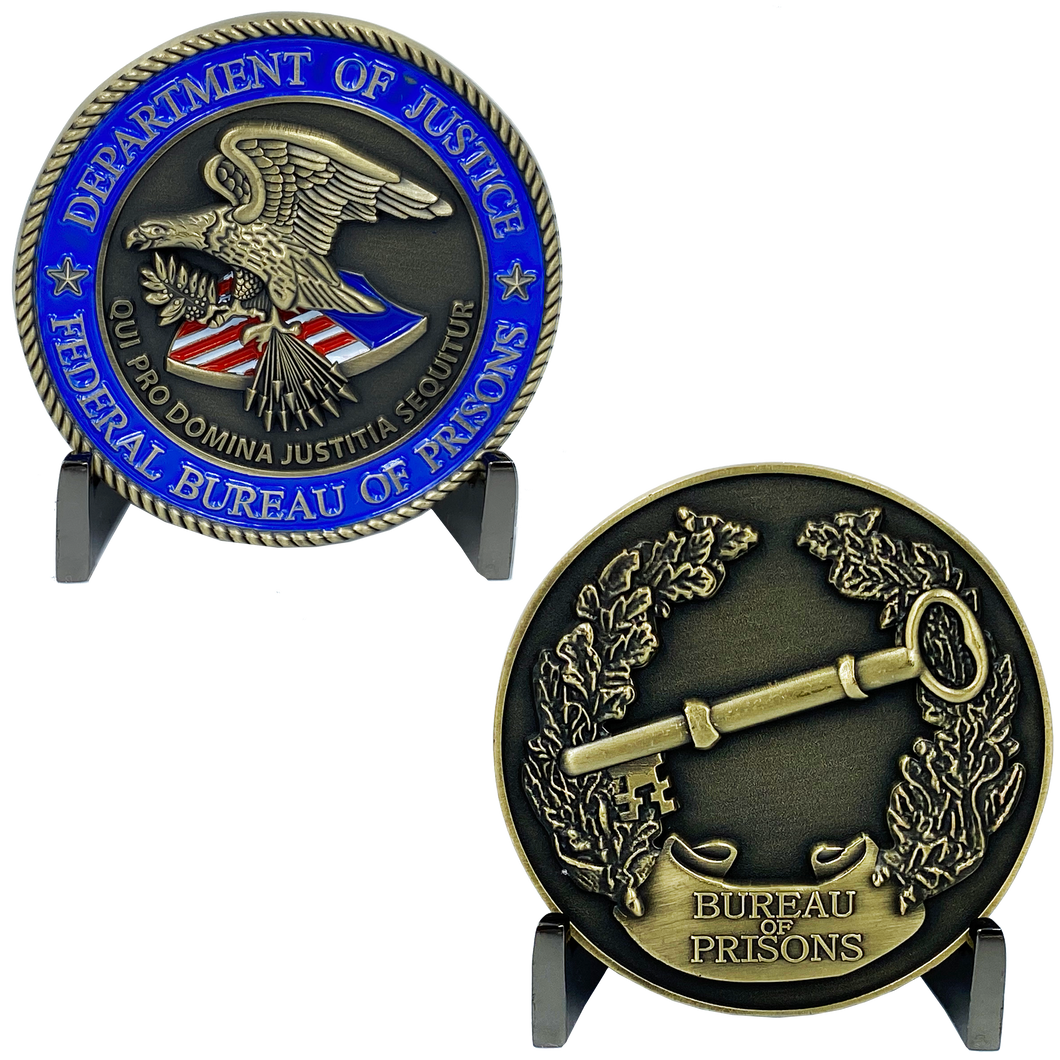 MM-012 Bureau of Prisons Department of Justice BOP Correctional Officer Corrections CO Challenge Coin