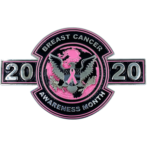 BT-001 Breast Cancer Awareness Month Challenge Coin Thin Pink Blue Green Line CBP Field Operations Border Patrol Flag BPA CBPO Ops