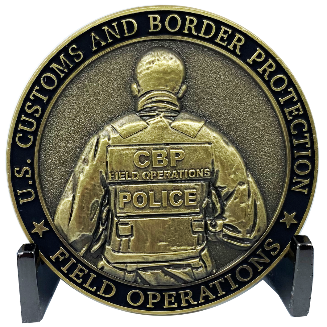 DL4-12 CBP Officer Challenge Coin Tactical Body Armor Bullet Proof Vest Field Ops CBPO Operations