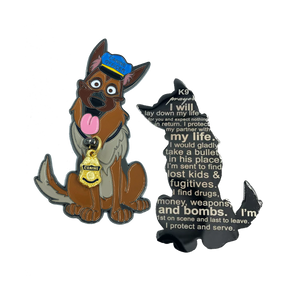 Police K9 Prayer Challenge Coin for Canine Officer police