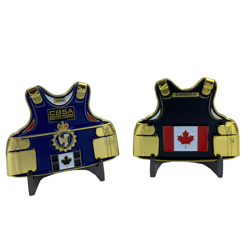 DD-002 CBSA Canada LEO Thin Blue Line Police Body Armor Canada Border Services Agency Challenge Coins