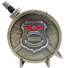 BL3-006 CBSA ASFC Canada Border Services Agency Shield with removable Sword Challenge Coin Set Canadian Customs