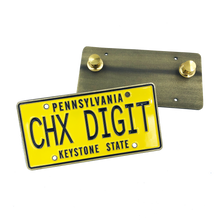 GG-019 Chicks Dig it CHX DIGIT License Plate dual pin backs The Goldbergs Uncle Marvin Back to the Future