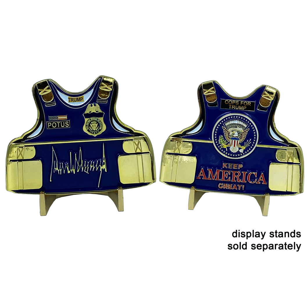 Cops For Trump Body Armor Medallion Keep America Great Challenge Coin