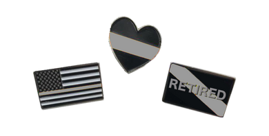 Correctional Officer Pin Set: 3 CO Pins for $6 Corrections thin gray line