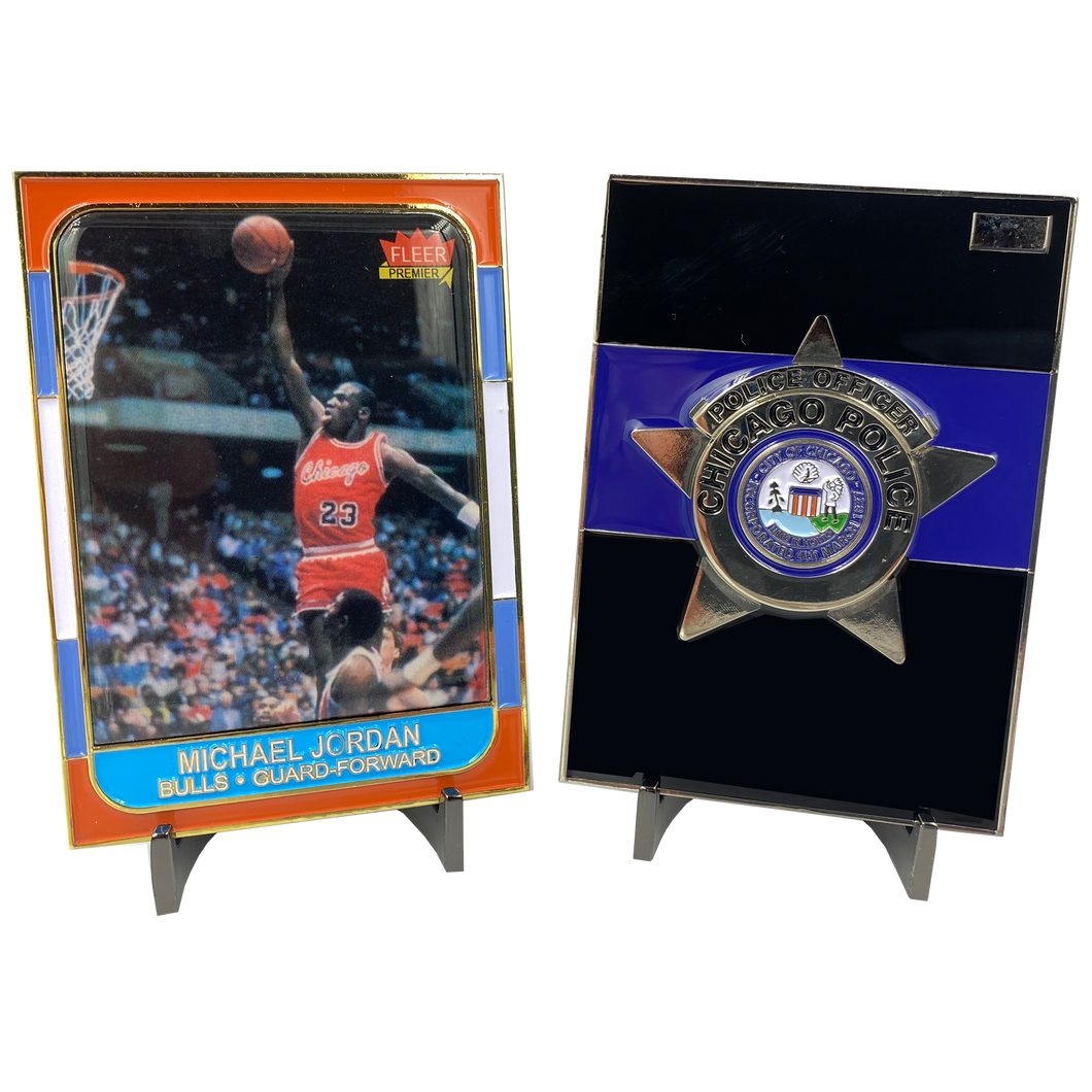 JJ-005 Chicago Police Department Michael Jordan Challenge Coin Thin Blue Line