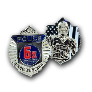 G-009 Patriots Tom Brady New England inspired Clamshell Badge Challenge Coin Massachusetts