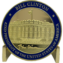 EL3-002 42nd President Bill Clinton Challenge Coin White House POTUS William Clinton coin