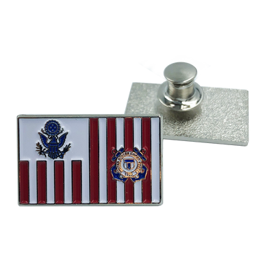M-14 Coast Guard Lapel Pin Coastie USCG Flag ensign