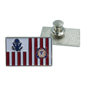 Coast Guard Lapel Pin Coastie USCG Flag ensign