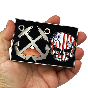 G-020 Huge 4 inch Coast Guard Flag Bottle Opener Challenge Coin Coastie Boatswain's Mate Anchor