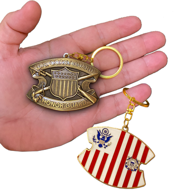Keychain Coast Guard Honor Guard Challenge Coin Coastie USCG Medallion