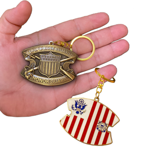 DD-019 Keychain Coast Guard Honor Guard Challenge Coin Coastie USCG Medallion