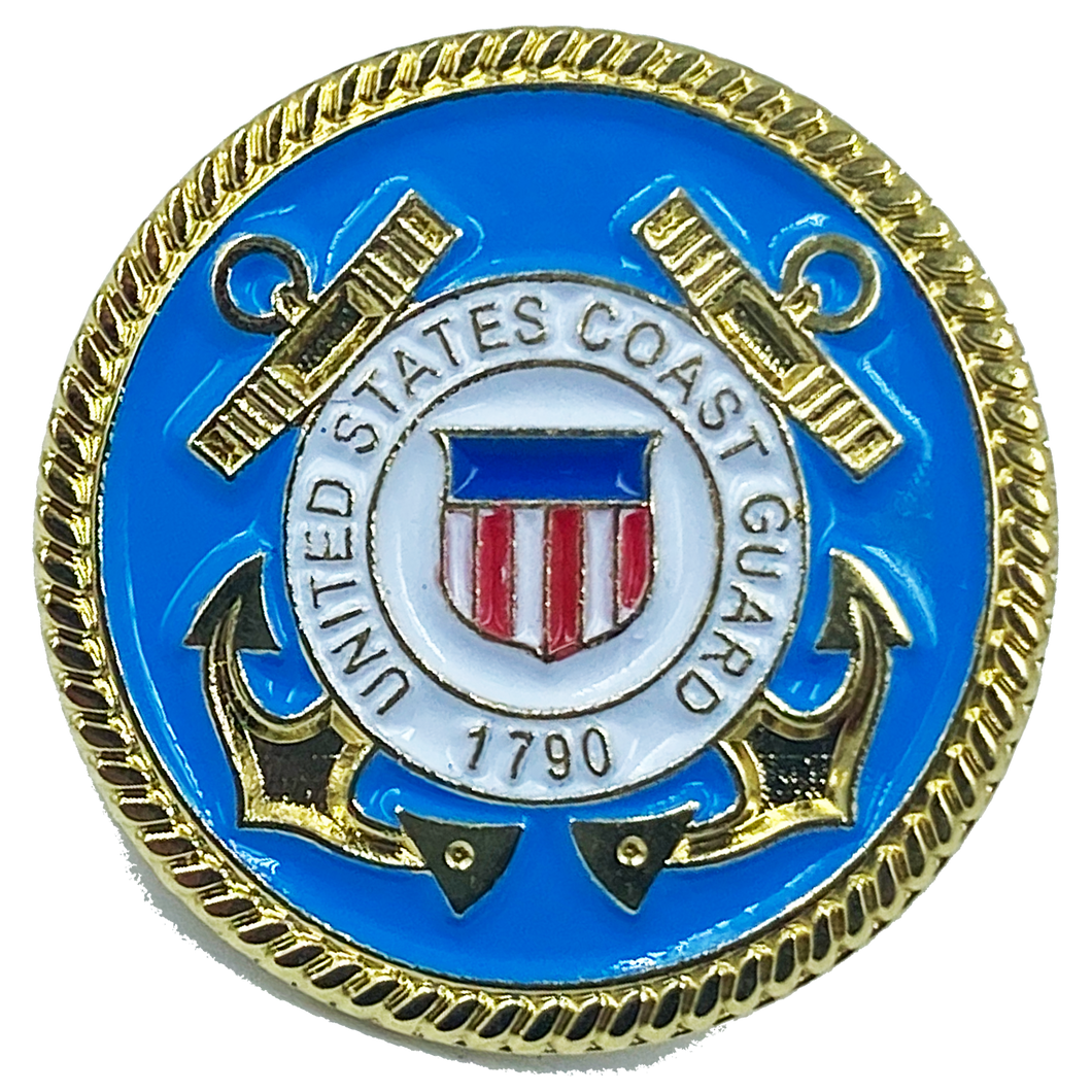 M-25 Coast Guard Lapel Pin with deluxe spring loaded clasp Coastie USCG