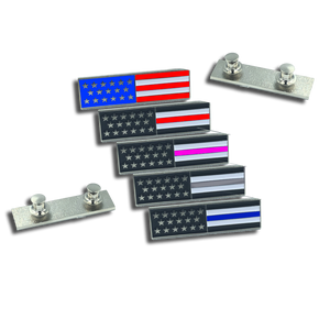 Thin Blue Line U.S. Flag Commendation Bar Pin Police CBP FBI ATF FAM Secret Service uniform