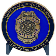 CL6-15 CSP Version 1 Challenge Coin inspired by Connecticut State Police CT Trooper Matthew Spina pre-order