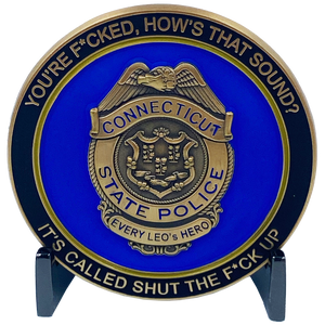 CL6-15 CSP Version 1 Challenge Coin inspired by Connecticut State Police CT Trooper Matthew Spina
