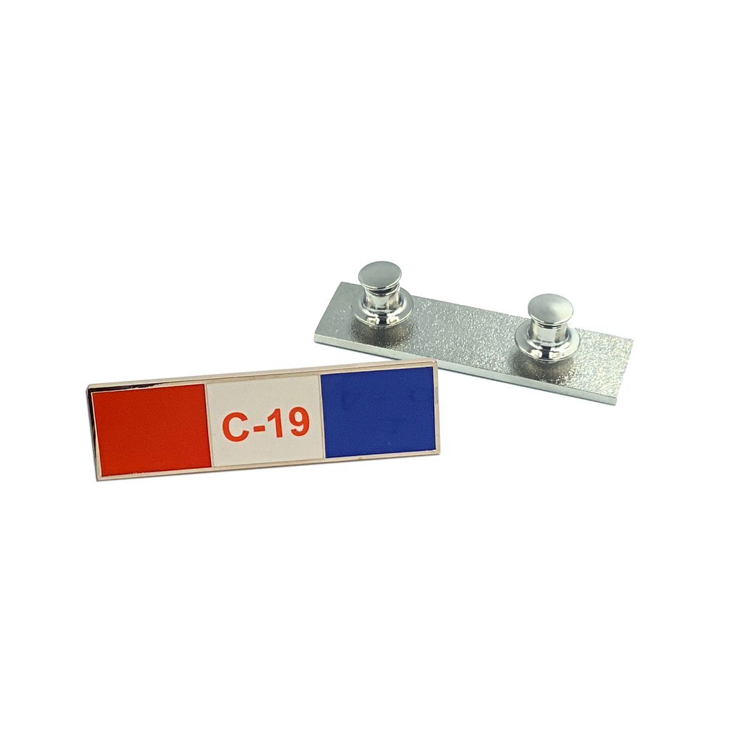 CL2-011 Pandemic Commendation Bar Pin, Police, EMT, Paramedic, Nurse, Essential Worker, Fire Fighter