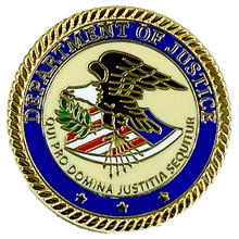 CL-010 DOJ Pin with deluxe spring loaded clasp Department of Justice Dept.