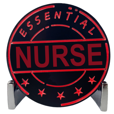 CL7-15 Essential Workers Nurse Challenge Coin perfect for Mother's or Father's Day or Mom's Dad's Birthday