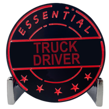 CL7-16 Essential Workers Truck Driver Challenge Coin perfect for Father's Day or Teamsters Birthday