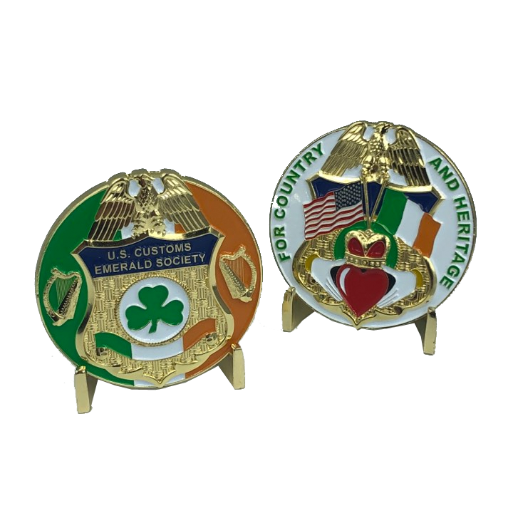 J-012 CBP Customs Emerald Society Challenge Coins