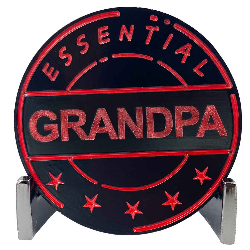 CL8-13 Essential Workers Grandpa Challenge Coin perfect for Father's Day or Grandfather's Birthday