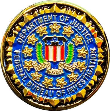 M-29 FBI lapel pin with deluxe locking safety clasp