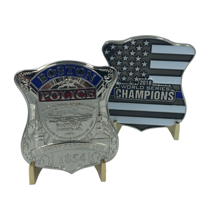 Boston Red Sox Fenway Park Detail 2018 World Series Champions Challenge Coin Police Thin Blue Line