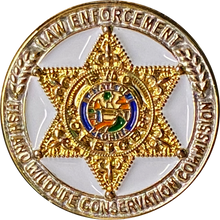 CL2-14 Florida Fish and Wildlife Conservation Commission Pin with deluxe spring loaded clasp Centers FWC Police