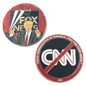 A-004 Trump Fake News MAGA Challenge Coin Fox News CNN parody