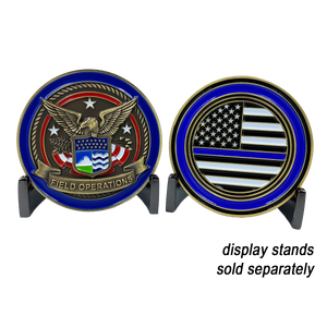 CBP Field Operations Challenge Coin Field Ops Thin Blue Line Police Officer