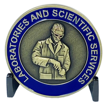 DL7-06 CBP Forensics Scientist Laboratories and Scientific Services Border Patrol Field Operations AMO Challenge Coin