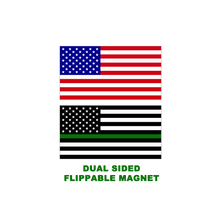 E-019 Thin Green Line 2 sided reversible magnet - Border Patrol, Army, Police, Sheriff