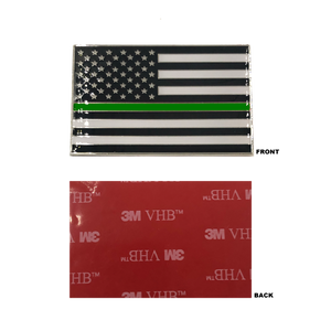 Thin Green Line US Flag Vehicle Emblem high-end metal decal with 3M VHB Tape Police CBP Border Patrol