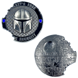 DL10-05 Galaxy's Edge Park Disney Security inspired Challenge Coin Mandalorian Boba Fett Star Wars inspired Death Star 1