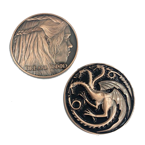 H-010 Mother of Dragons GoT challenge coin Game of Thrones Daenerys Targaryen Fire and Blood