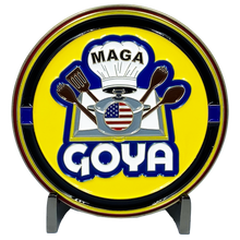 DL11-01 Goya President Donald J. Trump MAGA Thin Blue Line Police Challenge Coin 45 Keep America Great Make
