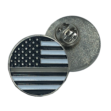 Thin Gray Line pin Corrections american flag Correctional Officer (round)