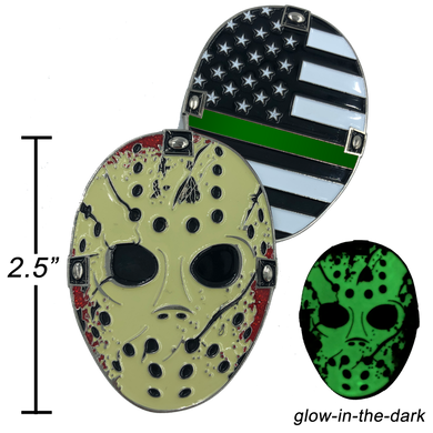 Thin Green Line Jason Voorhees Goalie Mask Friday the 13th Sheriff Border Patrol CBP
