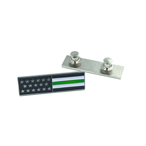 Thin Green Line U.S. Flag Commendation Bar Pin Border Patrol Security Military Army Marines
