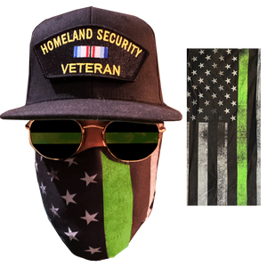 Thin Green Line Police Law Enforcement Face Cover Mask