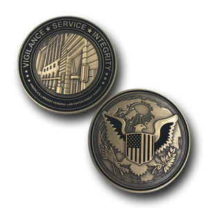 Ronald Reagan Building Challenge Coin Core Values CBP